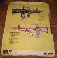 SA80 Cadet rifle sectioned