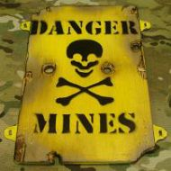 sign Danger mines